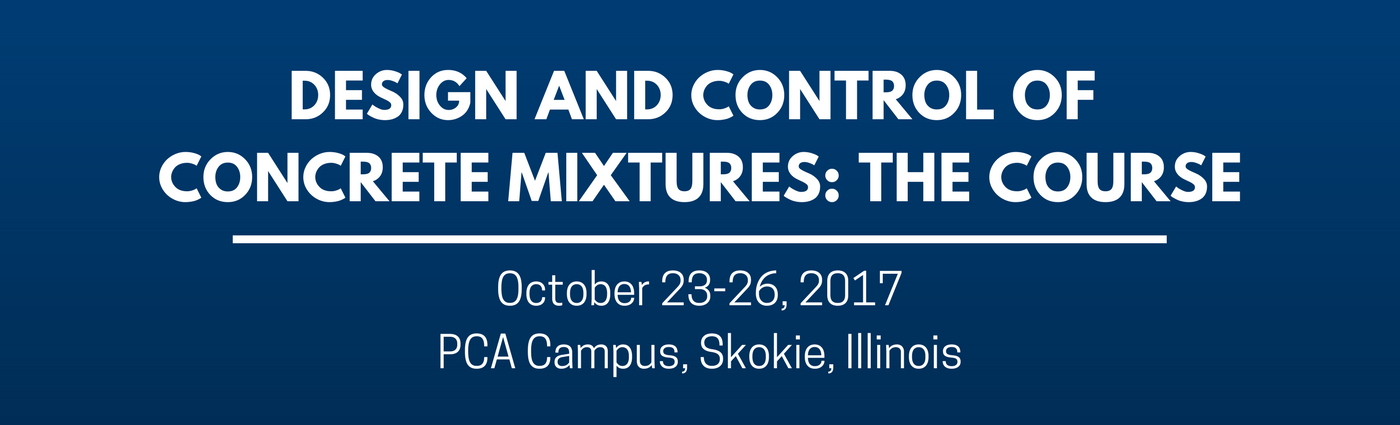 Design and Control of Concrete Mixtures- The Course (1)