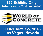 Register Today for World of Concrete 2016